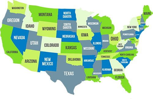 SOTA At Home Nationwide map of America